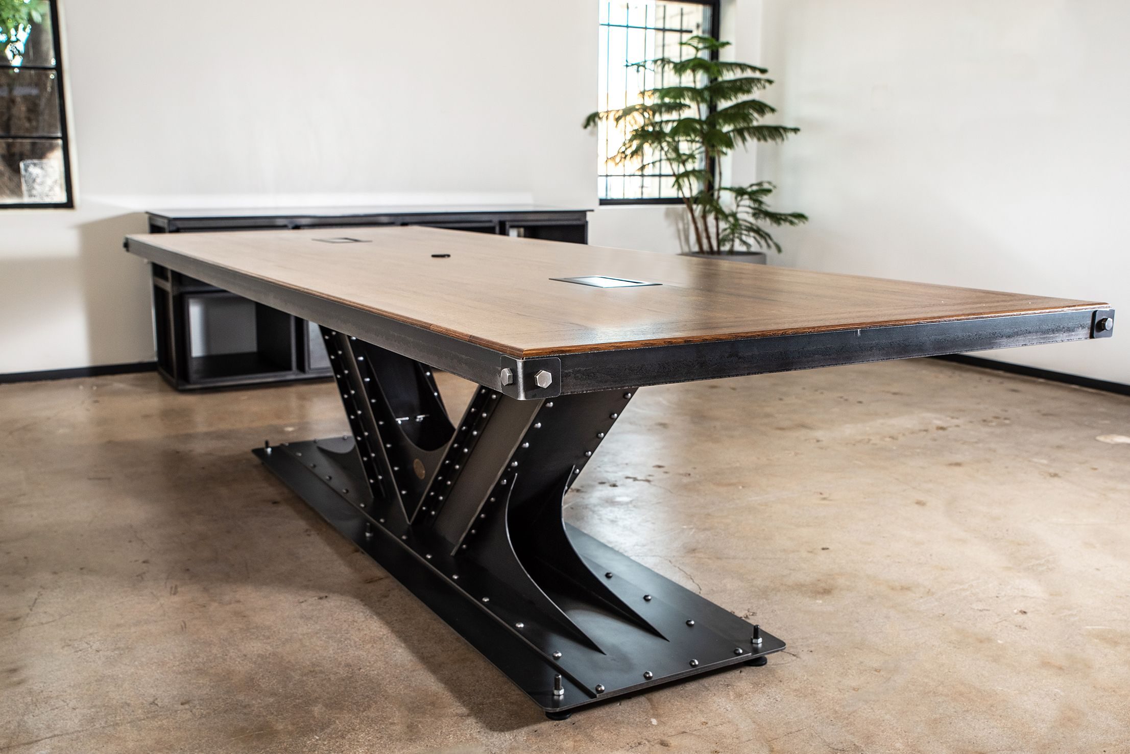 This High End Conference Room Table Will Complete The Decor Of Any Luxury Office Decor Rustic Furniture Custom Industrial Furniture Unique Furniture Pieces