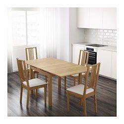IKEA - BJURSTA, Mesa extensible, chapa roble, , Viene con dos hojas ...