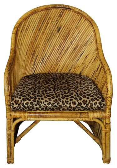 Rattan Chair With Animal Print Cushion | VandM.com By Wickerfurniture, Via  Flickr