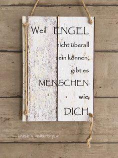Photo of Danke sagen, sags mit einem Schild Handmade Schilder Wanddeko FüR DiCH
