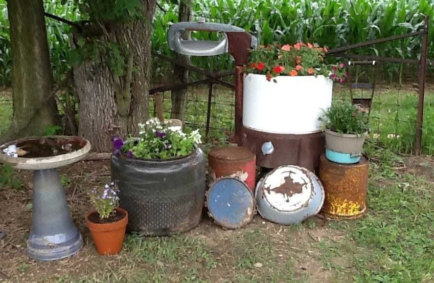 Rustic Outdoor Decor Yard, Country Outdoor Decor