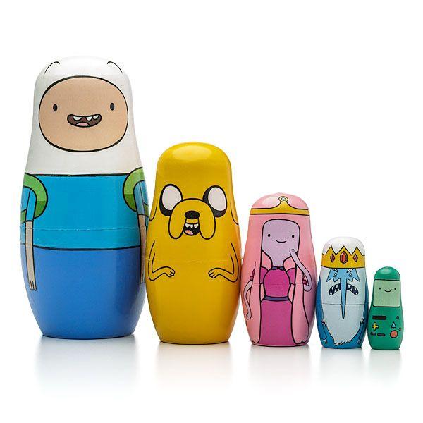Simpsons Matryoshka Stacking Wooden Nesting Dolls Cartoon Characters Toys 5pc