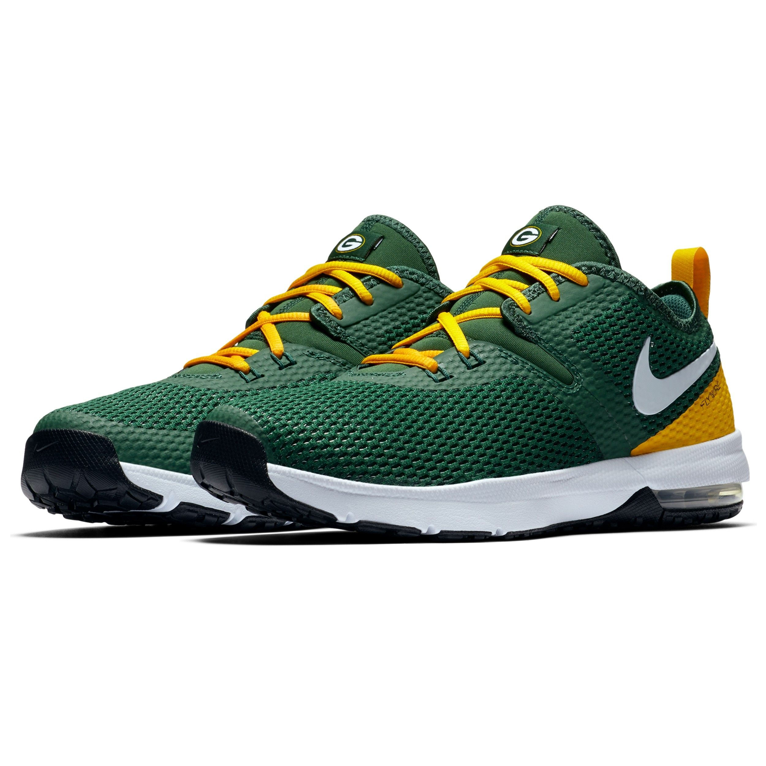 Packers Nike Air Max Typha 2 Trainer Shoe Green Bay Packers Shoes Nike Air Max Nike Gold