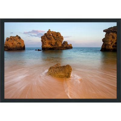 """PicturePerfectInternational """"On the Rocks III"""" Framed Photographic Print Size:"""