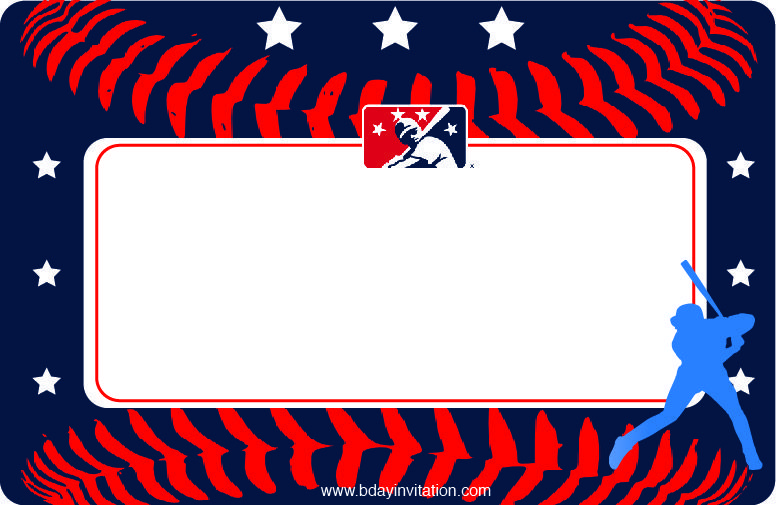 Nice Free Printable Baseball Birthday Invitation Template