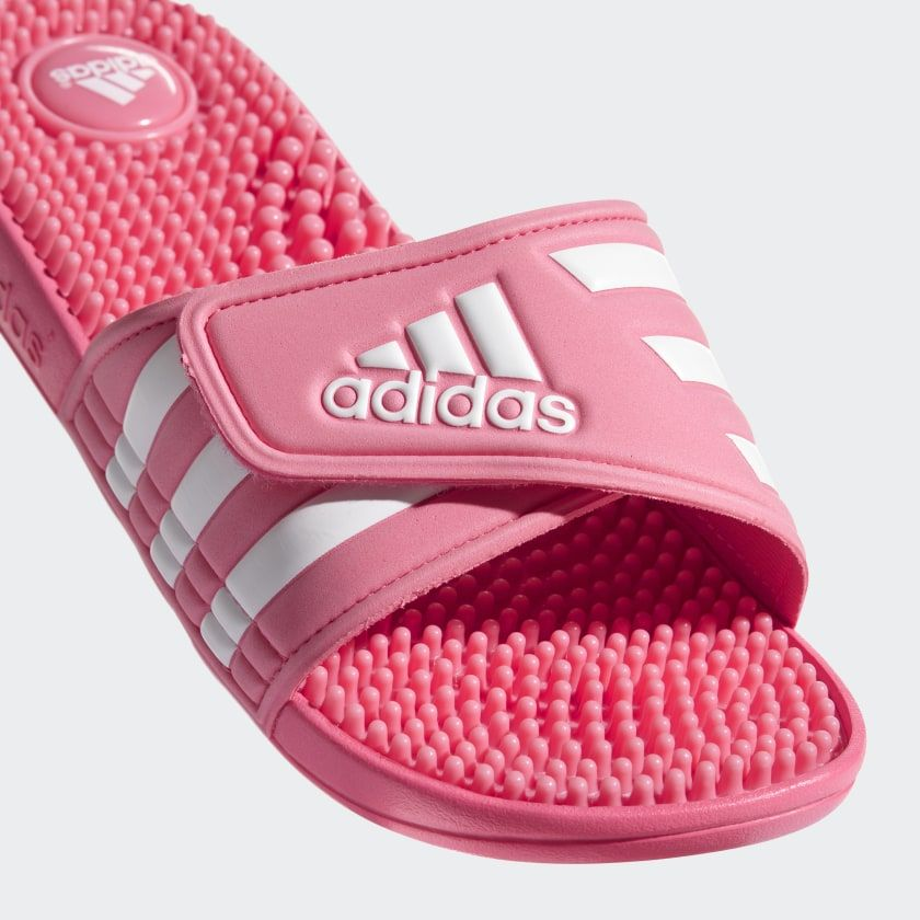 46d79257e56348 Adissage Slides Chalk Pink   Cloud White   Chalk Pink CG3535 Pink Adidas