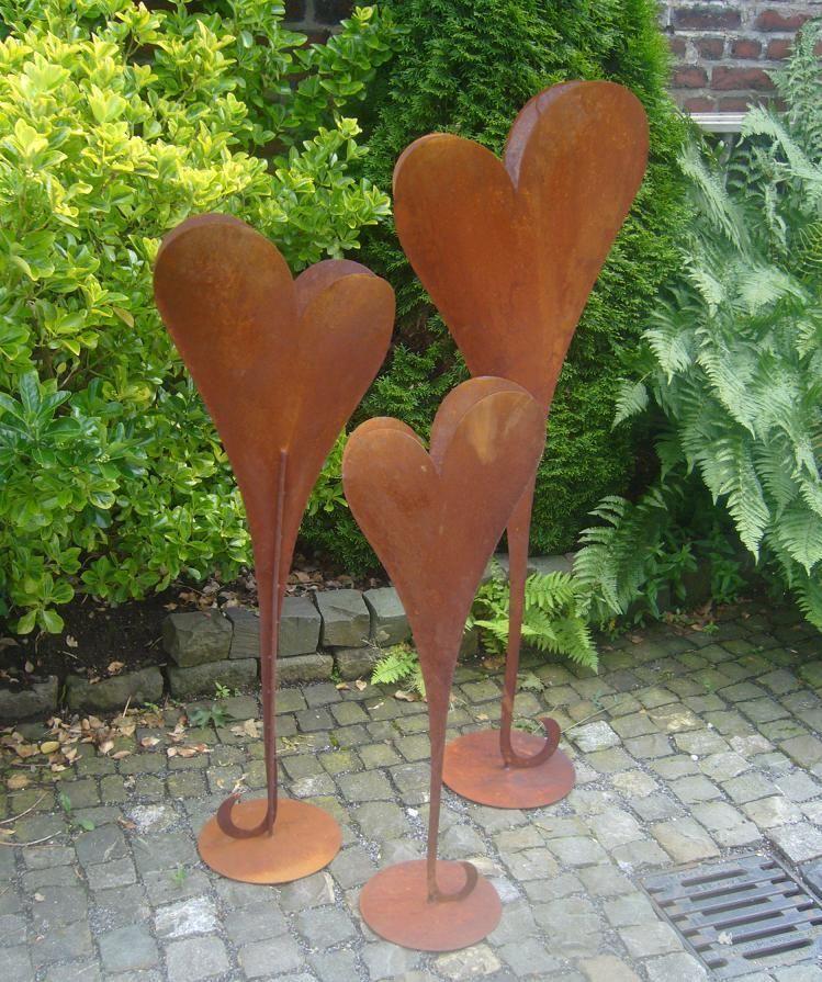 Herz 90 Cm Deko Rost Metall Gartendeko Edelrost Eisen Hochzeit Garten Valentin Ebay Rost Deko Garten Garten Deko Edelrost