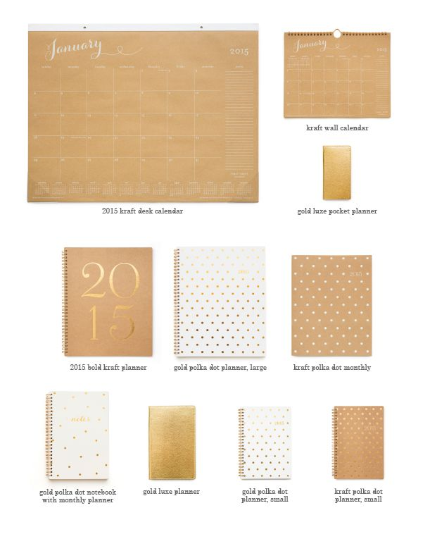 Sugar Paper at Target 2015 Agendas-I just bought the large white with gold polka dot one! The inside has pink details and is so pretty as well!