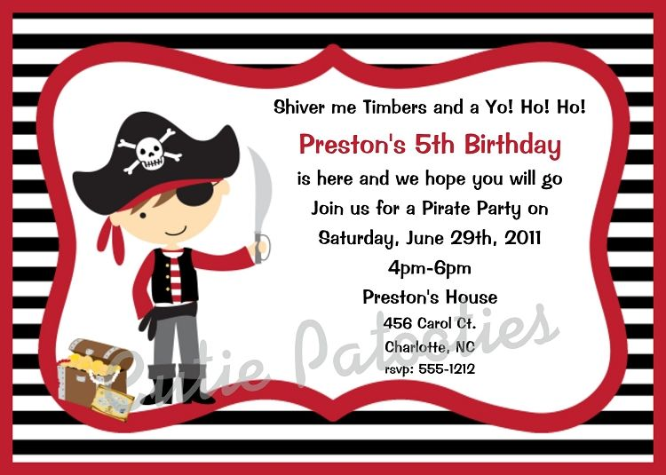 and another invite option sawyer s first pinterest pirate
