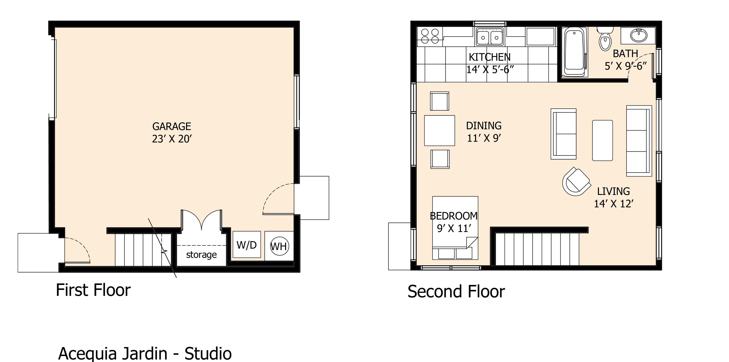 Studio Home Floor Plan | Small house floor plans, Floor ...
