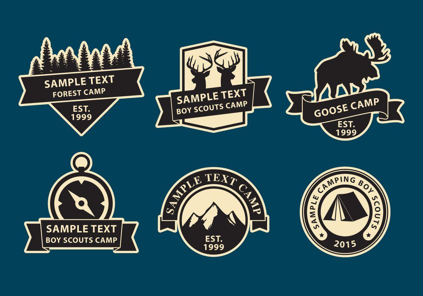 Camp Logos Camp logo, Logos, Boy scout camping