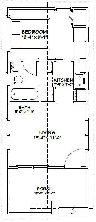 14x28 tiny house 14x28h1b 391 sq ft excellent for Tiny castle house plans