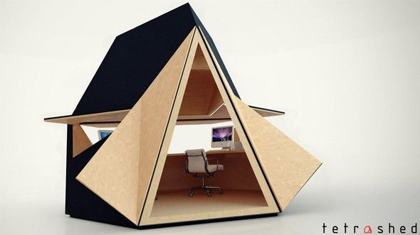 The tetra shed bureau de jardin