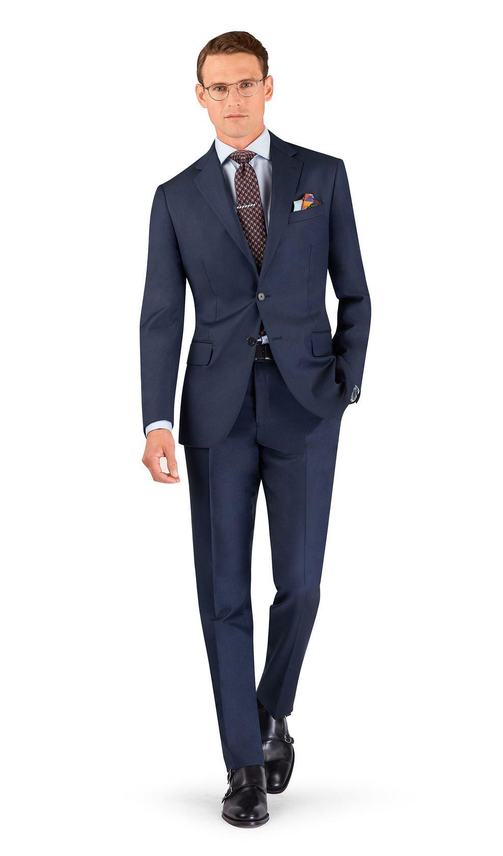 1b83421f9b62 Navy Blue Slim Fit Suit | Men's Work Attire | Blue slim fit suit, Slim Fit  Suits, Navy blue suit