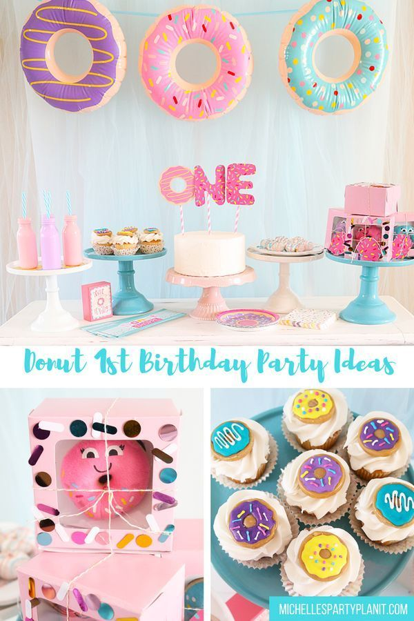 donut themed first birthday party idea pinterest donuts