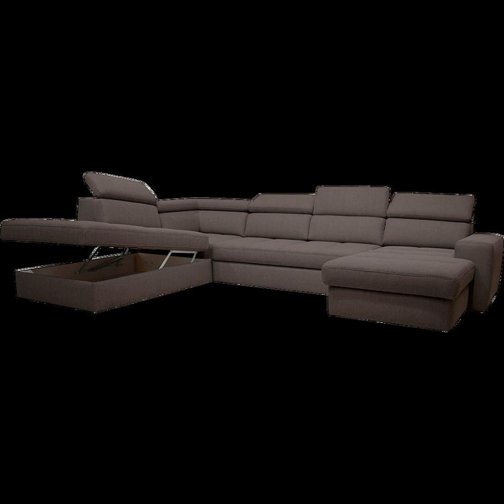 Canape D Angle En Forme De U Convertible En Tissu Gris Anthracite Avec Meridienne A Droite Alinea In 2020 Decor Home Decor Interior