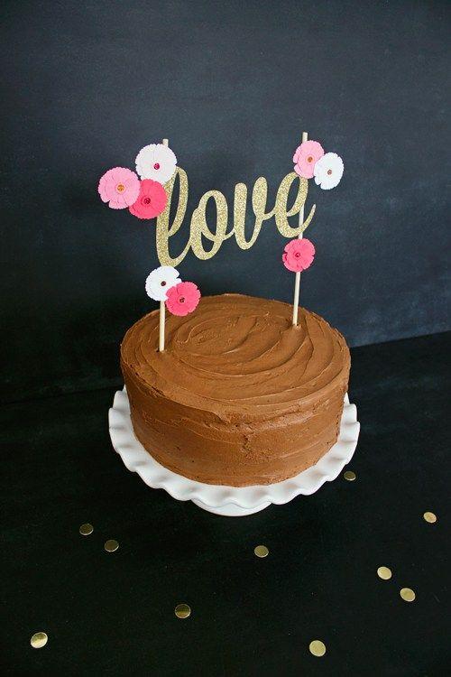 Diy Valentine S Day Love Cake Topper Free Printable Like The