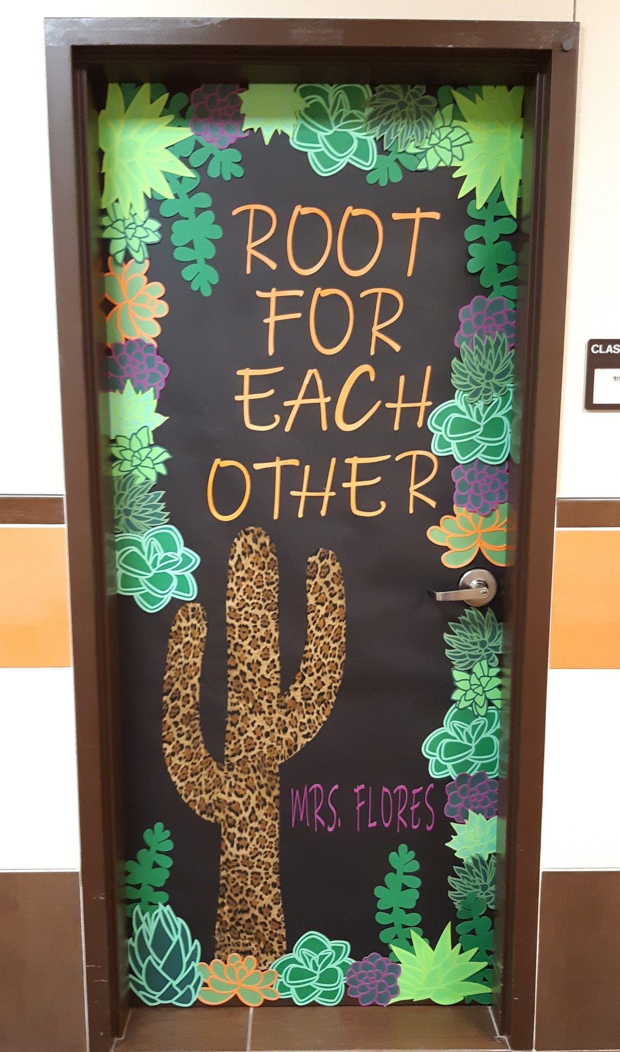Cactus Classroom Door In 2020 Plants Classroom Classroom Decorations Elementary Classroom Decor