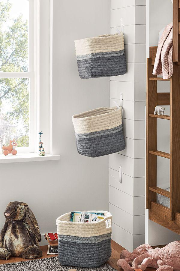 kori storage baskets with handles   modern living room