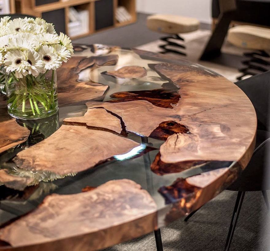 Earth Wood and Resin Table | Resin, Resin table and Woods
