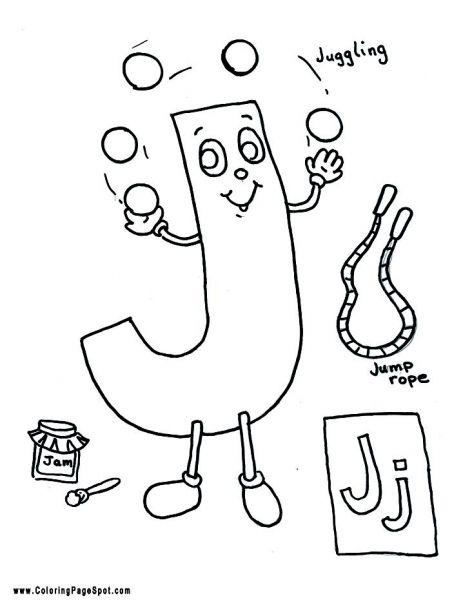Letter J Coloring Page Letter J Crafts Alphabet Coloring Pages Alphabet Letter Recognition