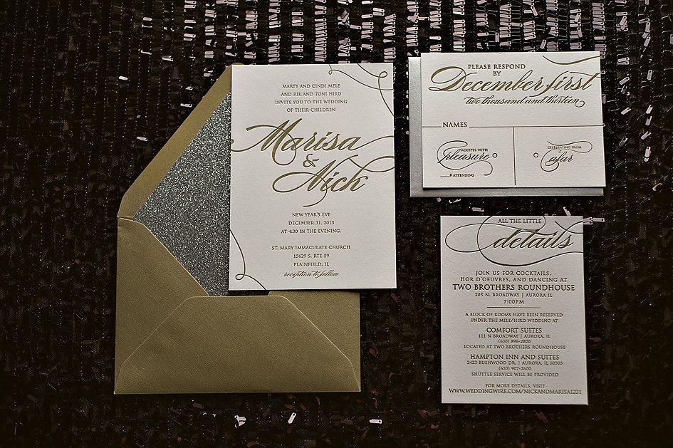 Lauren Suite Glitter Package Gold Weddingmetallic