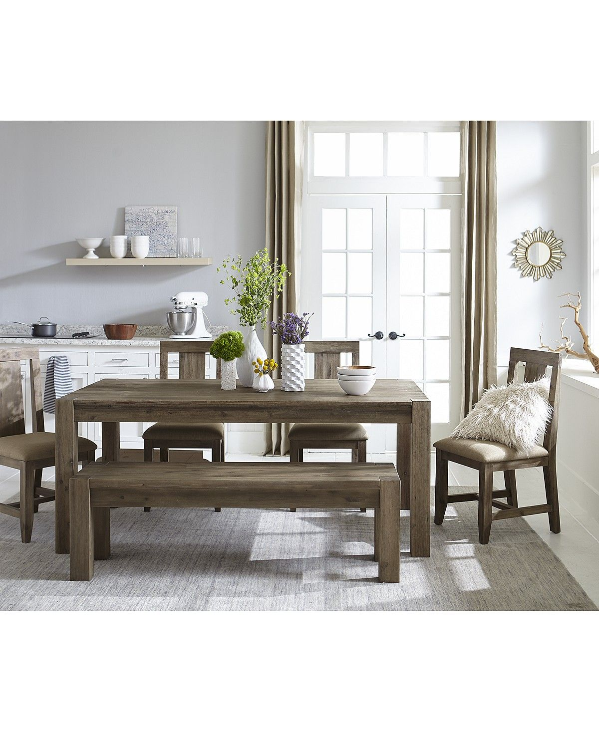 Best Furniture Canyon 6 Piece Dining Set Created For Macy S 640 x 480