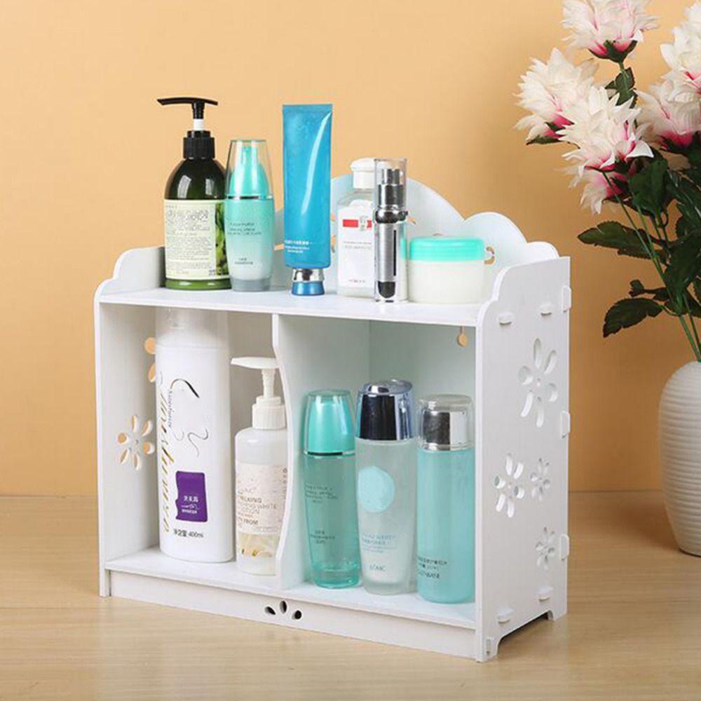 1pcs White WPC board Storage Cabinet Shelf Wall Hanging Bathroom ...
