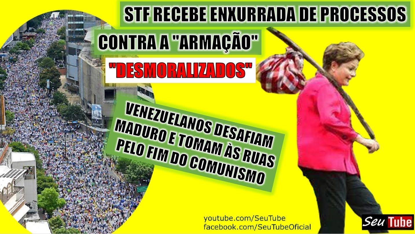 """DESMORALIZADO, STF recebe mandados de segurança contra a """"ARMAÇÃO"""" do PT..."""