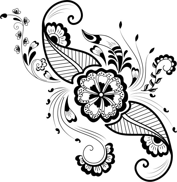 Beautiful decorative motifs file cdr and dxf free vector
