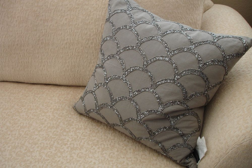 Tahari Home Decorator Accent Throw Pillow Grey Sequins 40 Size NEW Awesome Tahari Decorative Pillows