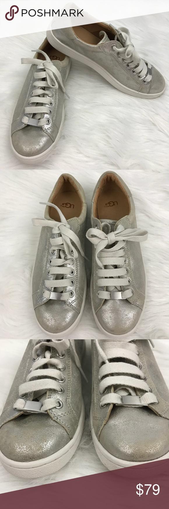 c2fd1fe0528 UGG Milo Stardust Sneaker Metallic Silver Size 8.5 A super ...
