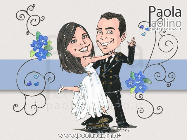 Amato Caricatura di #sposi. Una divertente #idea per le #nozze  KL78