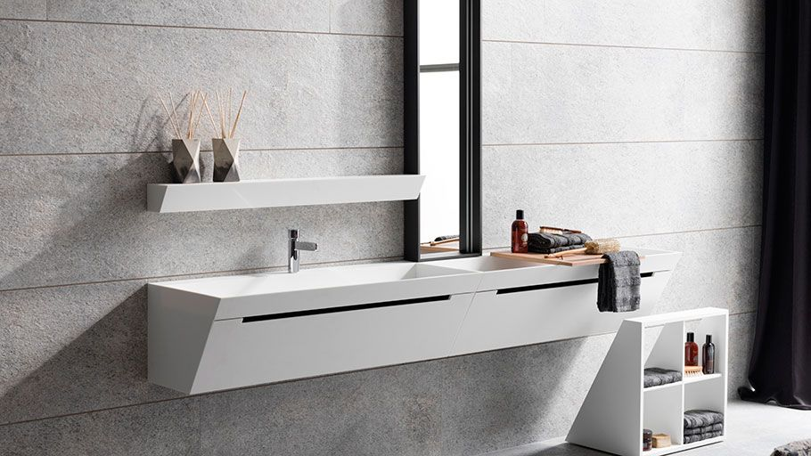 Bevel By Gamadecor Geometrically Perfect Bathrooms Agencement Salle De Bain Mobilier Salle De Bain Meuble Salle De Bain