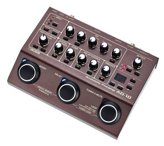 Boss Ad 10 Acoustic Preamp Fx Acoustic 10 Things Guitar Effects
