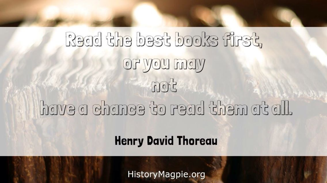 Read the best books first.