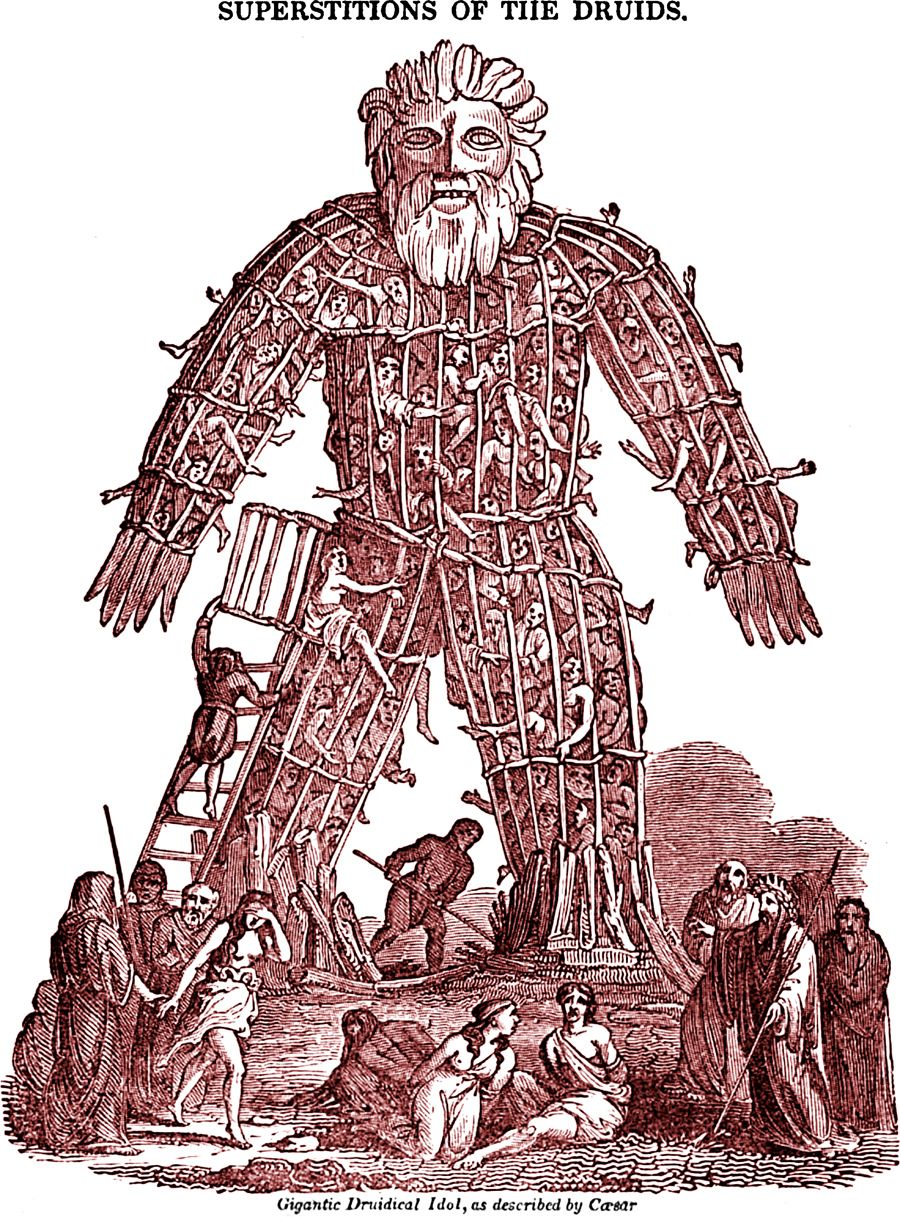 In Honor Of The Great Film The Wicker Man Here S A Druidical Idol From The Saturday Magazine 1832 Wicker Man Ancient Celts Celtic Culture