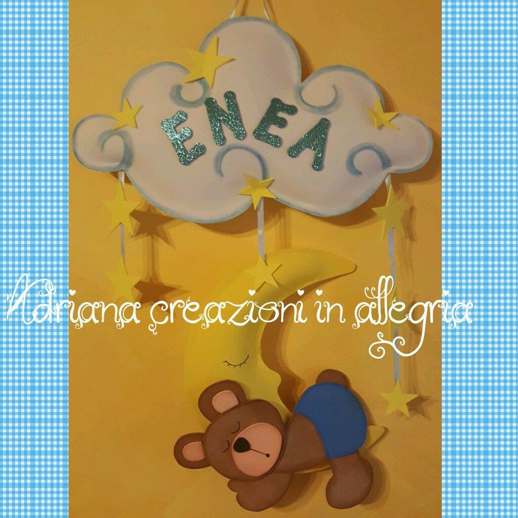 Eccezionale Fiocco nascita in gomma crepla | Adriana creazioni in allegria  PF04