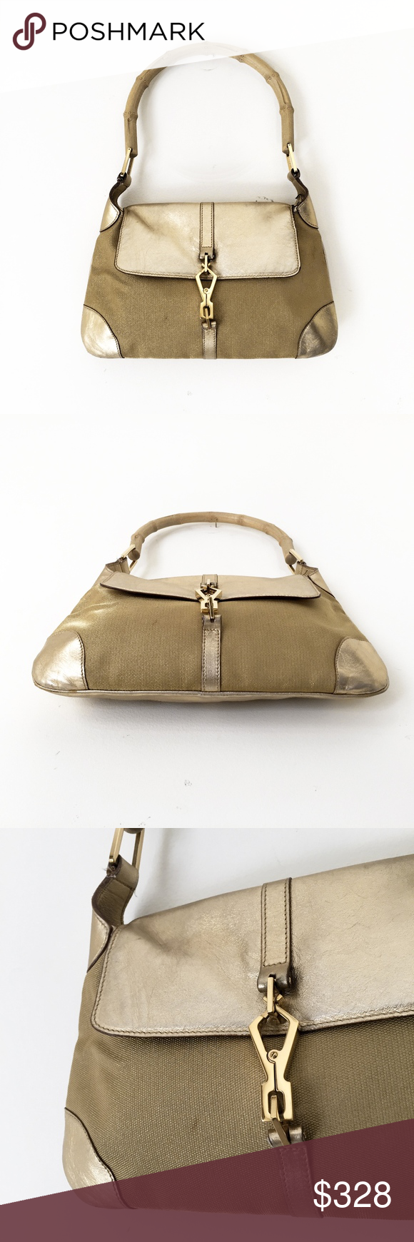 c04d778c307 GUCCI Jackie O vintage bamboo shoulder clutch bag GUCCI 001 4096 1669 made  in Italy authentic. Visit. March 2019