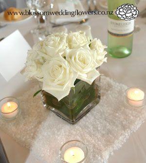 Auckland wedding flower gallery 4 v037 wedding centerpeice white auckland wedding flower gallery 4 v037 wedding centerpeice white rose cube junglespirit Choice Image