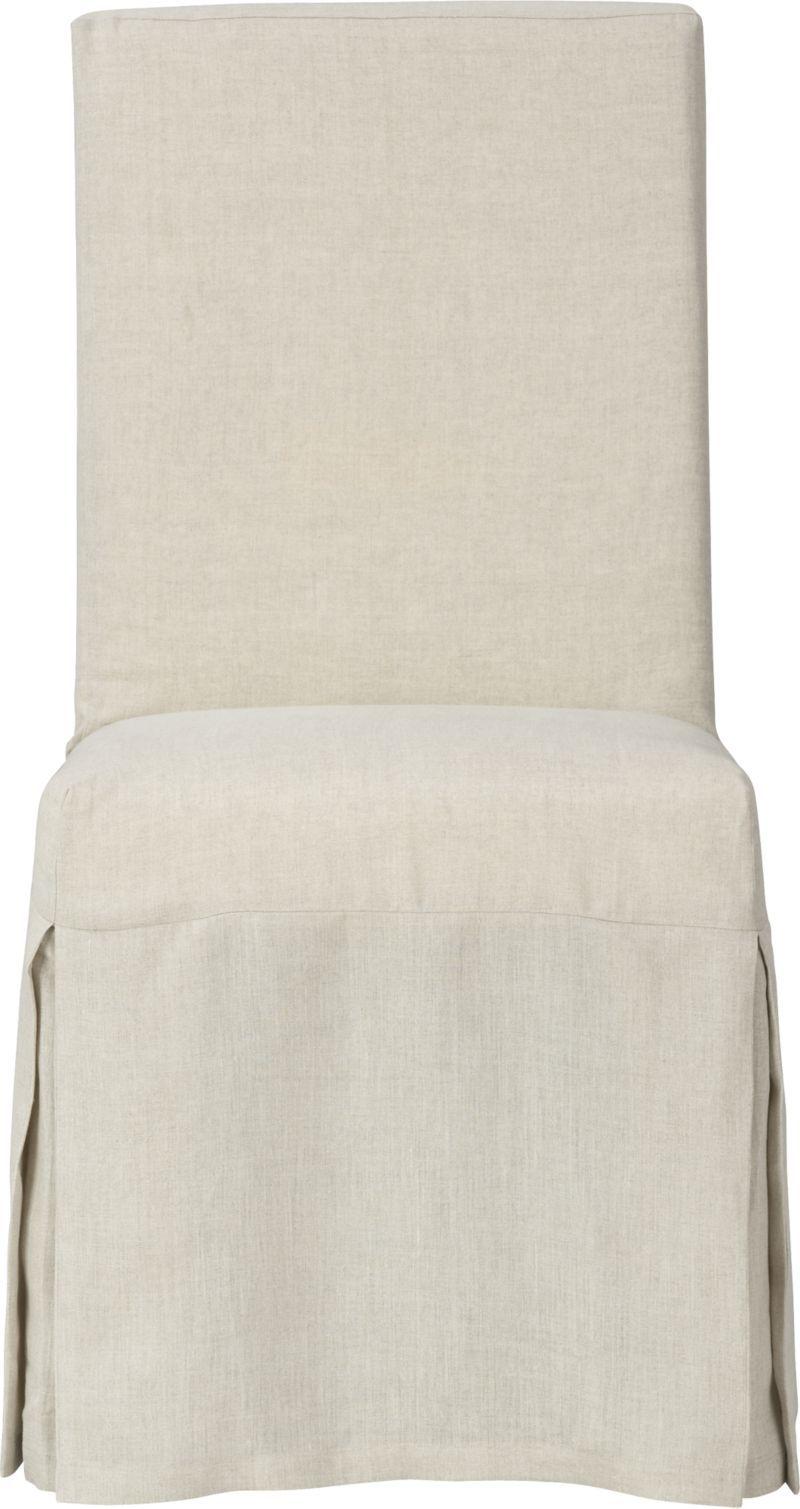Slip Side Chair With Linen Slipcover Redo Dining Chairs Side Chairs Slipcovers