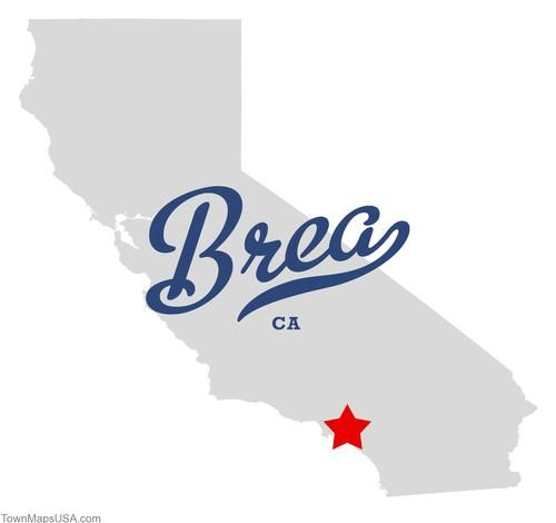 Map Of Brea California CA With Love From Brea California - Where is brea california on the california map