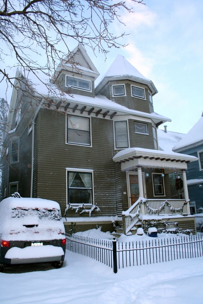 My real house, which is sometimes a fantasy #victorian #houses #winter #buffalo