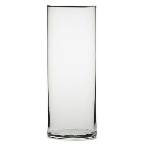 Libbey 9 Inch High Large Glass Cylinder Vase Glass Cups