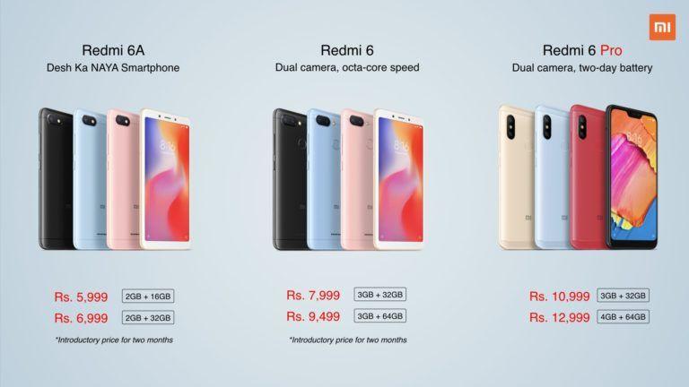 Xiaomi Launches Redmi 6 Redmi 6a And Redmi 6 Pro In India The Techverts Xiaomi Smartphone Product Launch