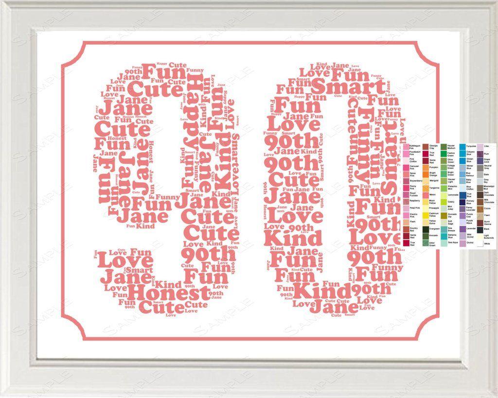 90th Birthday Gift Ideas 8 X 10 Print