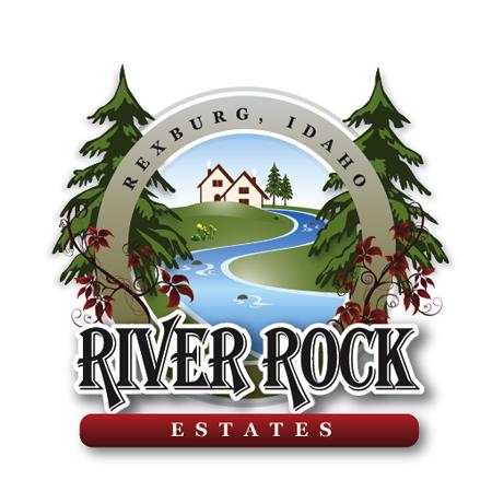 River Rock Estates logo Farm logo, Logos, Screen printing
