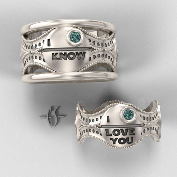 "Stars Wars Wedding Rings ""...for better, for worse, for richer, for poorer, in sickness and in health, until * the death star*  do us part."""