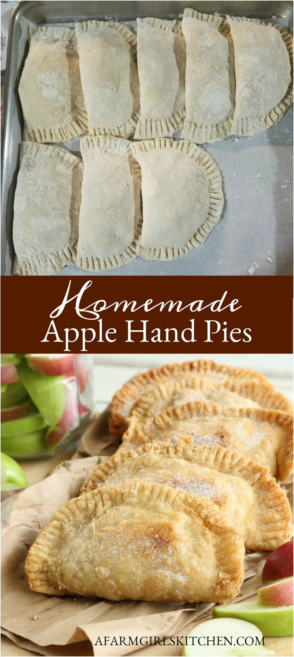 Homemade Apple Hand Pies (made with SIMPLE ingredients!)