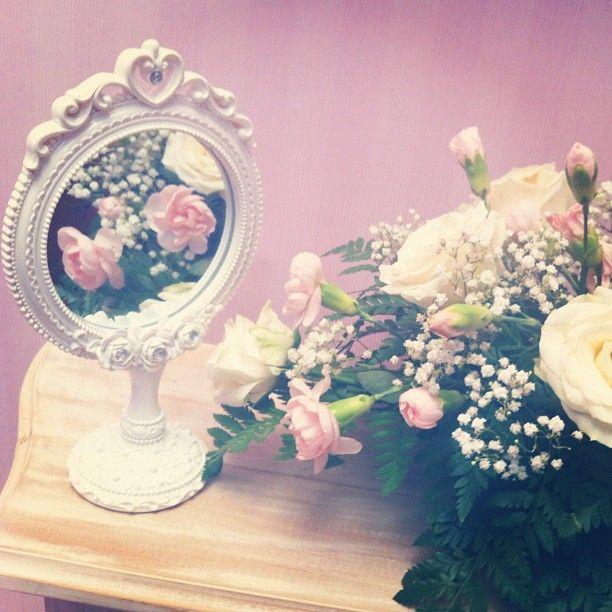Flowers in the mirror - @ririmaulidina- #webstagram